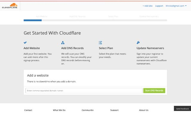 Pag-set up ng CloudFlare