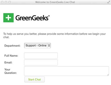 Suporta sa chat ng GreenGeeks