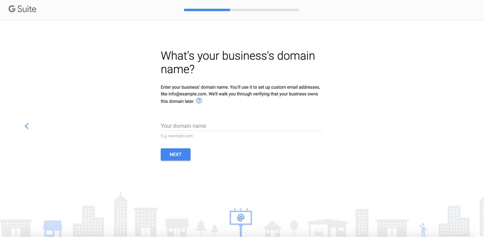 gsuite enter domain