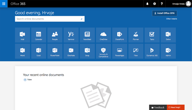 Panel Pengguna Office 365 2