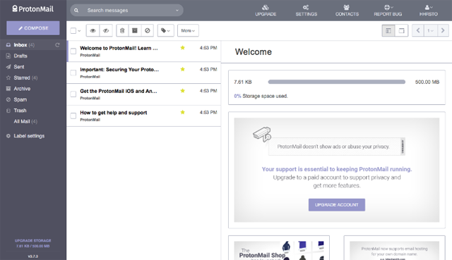 ProtonMail 사용자 패널 1