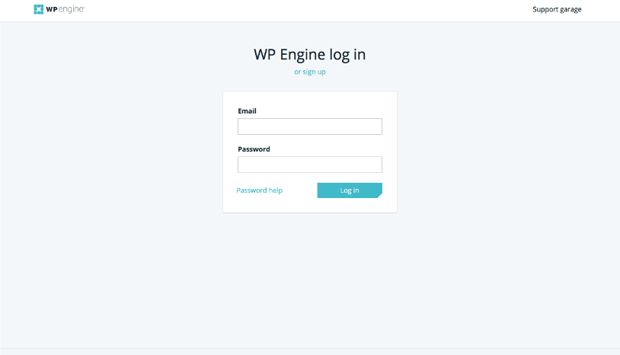 Страница входа в WP Engine